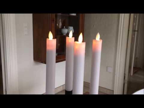 Ego Kronelys Med Bev 230 Gelig Flamme 2 Pk