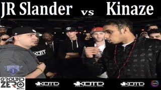 Ground Zero Battles | Kinaze vs. J.R. Slander