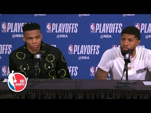 Paul George still trying to find his rhythm after loss to Trail Blazers | 2019 NBA Playoffs