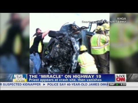 priest - CNN's Brooke Baldwin talks with Sara Ganim about a mystery priest that performed a miracle at the scene of a Missouri car crash.