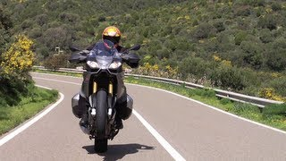 7. 2013 Aprilia Caponord 1200 Onboard and review teaser from Sardinia with Tor Sagen