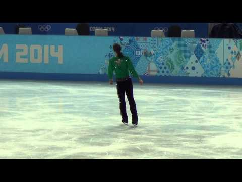 Sochi 2014 Jason BROWN practice FS 00715