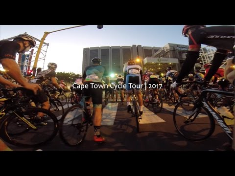 On-the-bike video footage from the second racing group at the 2017 Cape Town Cycle Tour. The race was stopped at 20km due to extreme weather, protests and fire.