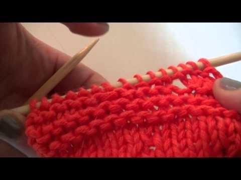 Umschlag rechts verschränkt stricken – Stricken lernen