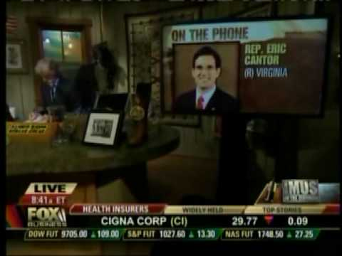 Republican Whip Eric Cantor Discusses Israel, Afghanistan & War On Terror