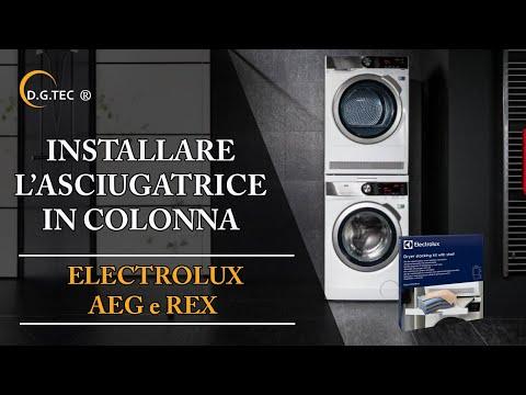 Installare in colonna una lavatrice e asciugatrice Rex Electrolux Aeg
