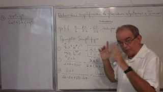Algebra Intermedia - Lección 24 - A (reducción O Simplificación De Fracciones Algebraicas)