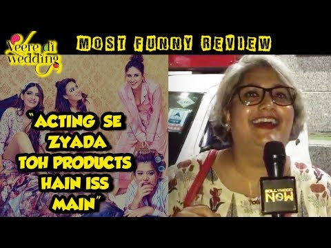This AUNTY's FUNNY And HONEST Veere Di Wedding Mov