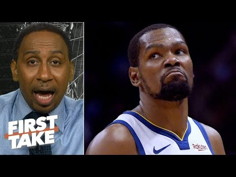 'No way' the Warriors win a title without Kevin Durant - Stephen A. | First Take
