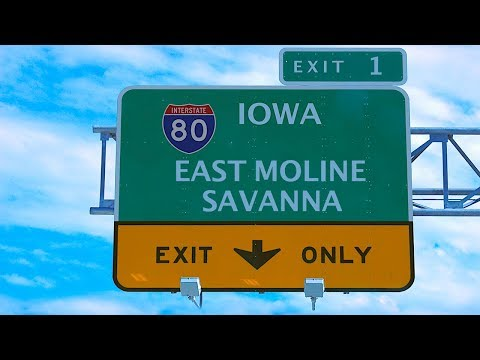 EYRNE 7 - Interstate 80 in East Moline, Illinois at Exit 1
