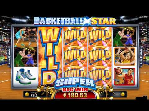 Basketball Star Slot (Microgaming) - Big Win in Maingame on 1.50 Euro Bet