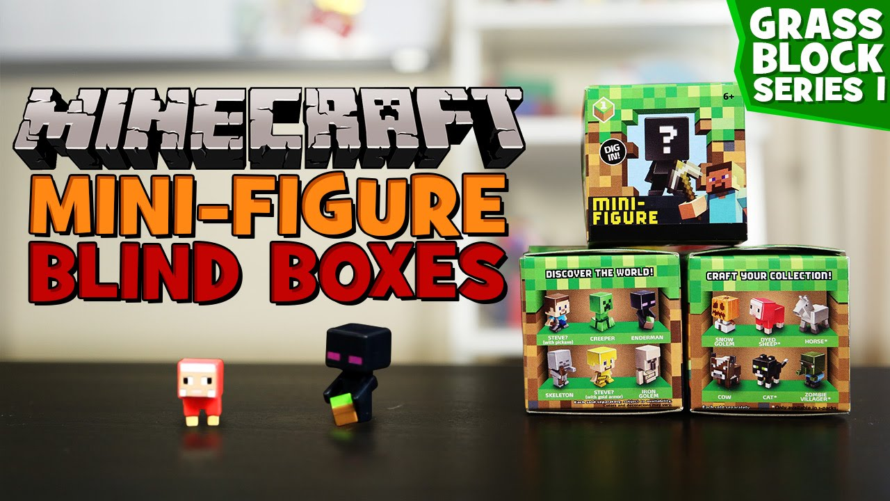 Minecraft – Mini-Figure Blind Boxes – New Figures! Grass Series 1