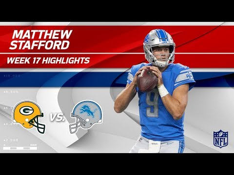 Video: Matt Stafford's Superb Game w/ 323 Yards & 3 TDs! | Packers vs. Lions | Wk 17 Player Highlights