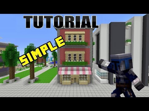 MINECRAFT (Town House Store Tutorial)