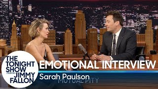 Emotional Interview with Sarah Paulson