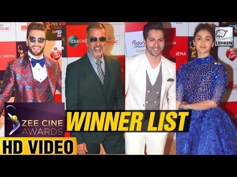 Zee Cine Awards 2018 FULL WINNER'S List | Akshay K