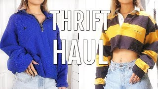 Video THRIFT TRY ON HAUL | GO THRIFTING WITH ME + TIPS FOR THRIFTING MP3, 3GP, MP4, WEBM, AVI, FLV Juni 2018