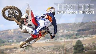 9. 2016 Honda CRF250R First Ride - MotoUSA