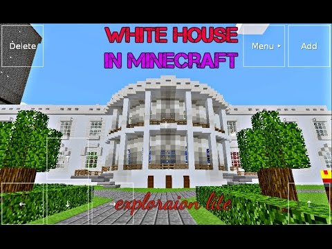 Out-view of Largest White House Minecraft Exploration Lite