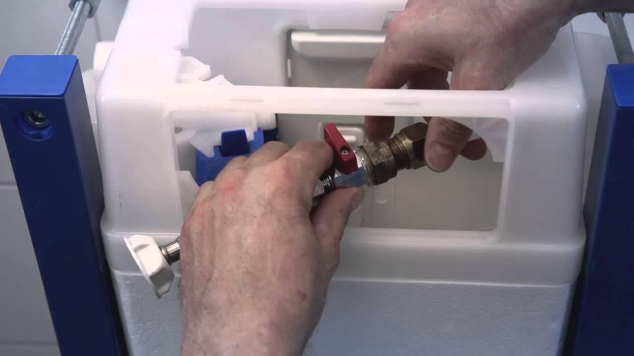 Triomont XS-fikstur – til toilet med vægtryk