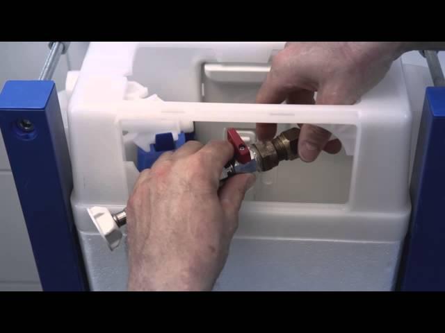 Montering af Triomont fikstur til væghængt wc DK