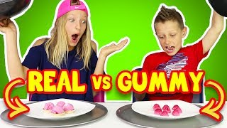 GUMMY vs REAL FOOD 5!!!!
