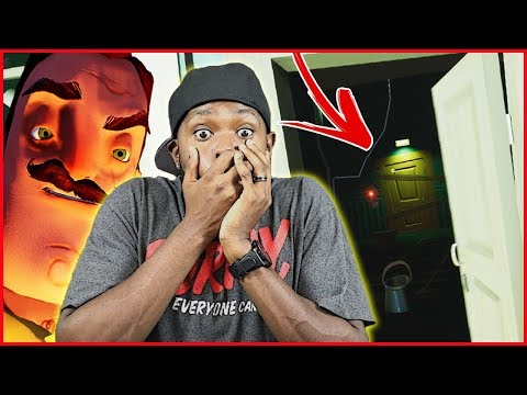 EXPOSED! WE FINALLY KNOW WHAT HE'S HIDING DOWN THERE! - Hello Neighbor Gameplay (видео)