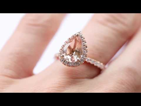 Rose Gold Morganite Halo