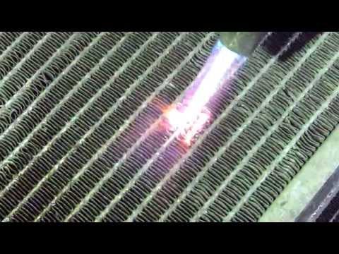 Пайка алюминиевого радиатора кондиционера