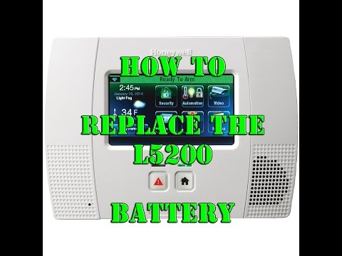 Honeywell Lynx Touch L5200 how to replace the Panel Battery