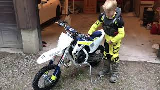 4. Brand New Husqvarna TC65, including first EVER manual clutch use by 9 year old