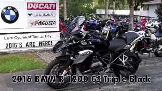 8. 2016 BMW R 1200 GS Triple Black at Euro Cycles of Tampa Bay