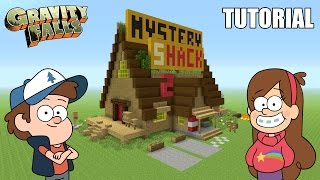 """Minecraft Tutorial: How To Make """"The Mystery Shack"""" House! """"Gravity Falls"""" (Survival House)"""