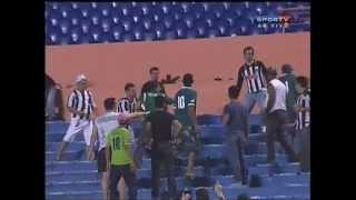 Briga de torcedores no jogo Goiás x Atlético-MG.