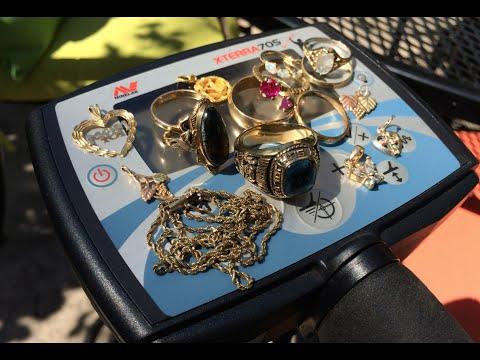 Minelab X-TERRA 705 settings for hunting jewelry