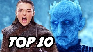 Game Of Thrones Season 7 Episode 6 TOP 10 Q&A. Jon Snow and Daenerys Dragons, Night King Viserion Ice Dragon, Arya ...