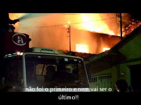 Reportagem do incêndio em Bambuí