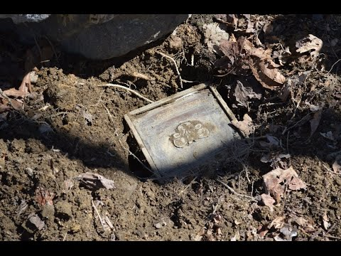 "Man finds ""treasure chest"" out in the woods metal detecting, the results are very heartwarming."