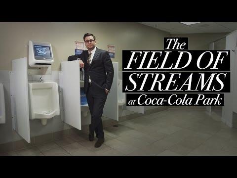 Golden Thrones Video Game Urinals at CocaCola