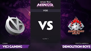 [RU] Vici Gaming vs Demolition Boys, Game 1, StarLadder Imba TV Dota 2 Minor Group Stage
