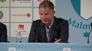 Hör Malmö FF:s tränare Magnus Pehrsson efter matchen mot Vardar,