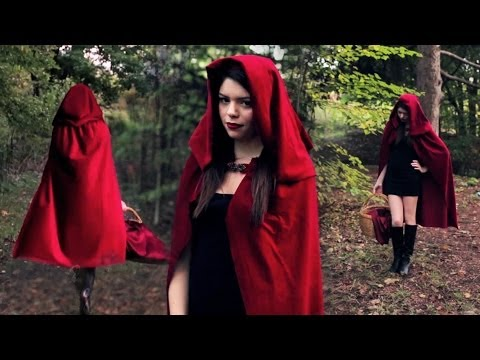 DIY LITTLE RED RIDING HOOD COSTUME
