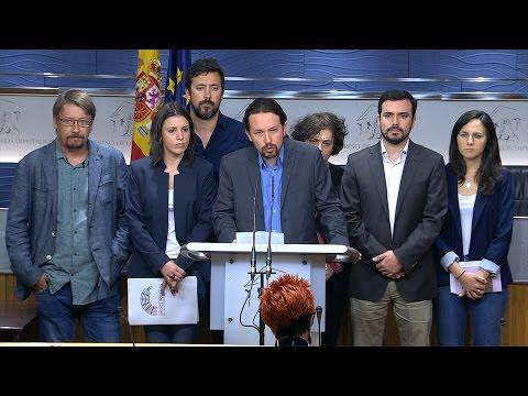 27/04/2017 Iglesias impulsa una moción de censura contra Rajoy