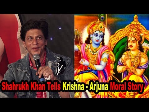 Shahrukh Khan Talks About Krishna   Arjuna Moral Story At Zero Trailer Launch