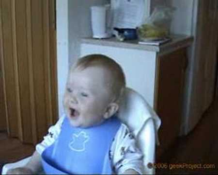 Hilarious Baby Laugh. Very Cute.