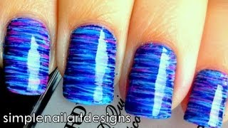 Fan Brush Striped Nail Art Tutorial