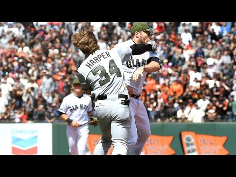 Video: Bryce Harper ended feud with Strickland, Giants