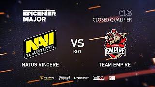 Natus Vincere vs Empire, EPICENTER Major 2019 CIS Closed Quals , bo1 [4ce & Lex]