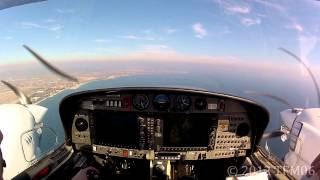 [HD] GoPro DA42 - ILS RWY 05 Then Circle-to-land RWY 23 Hyères Toulon LFTH (France)