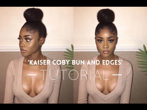 'Kaiser Coby Bun and Edges' Tutorial (видео)